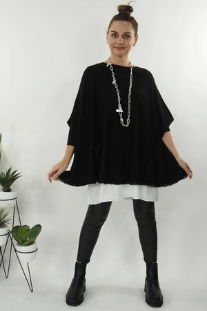 The Aspen Pocketed Knit Black