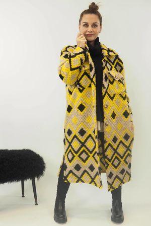 The Aztec Diamond Coat Sunshine