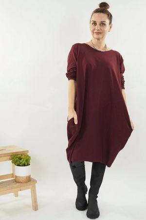 The Basic Cocoon Tunic Dress Rioja