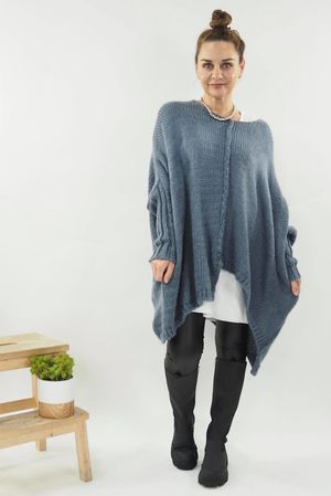 The Big Softie Cut Out Knit Denim