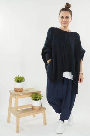 The Big Softie Cut Out Knit Navy