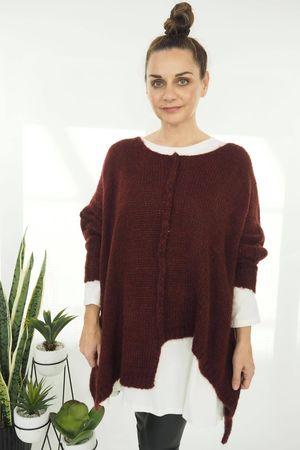 The Big Softie Cut Out Knit Rioja