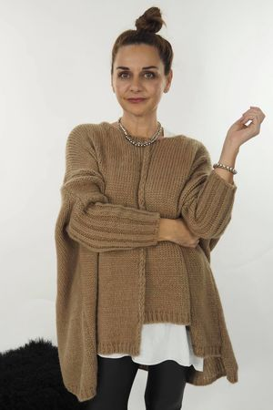 The Big Softie Cut Out Knit Soft Tan