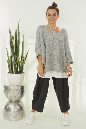 The Boucle Knit Steel