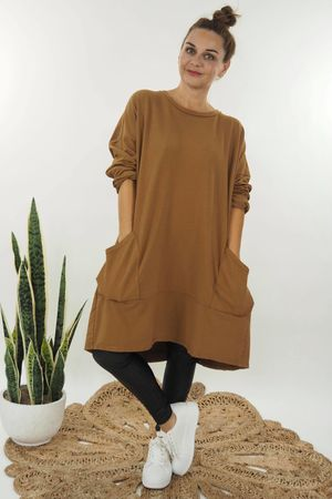 The California Pocketed Tunic Tobacco