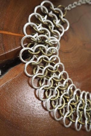 The Chain Mail Choker Necklace Mixed