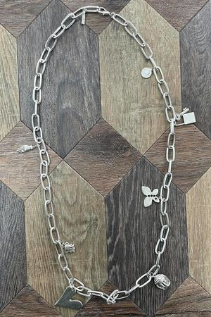 The Chunky Charm Chain Necklace Silver