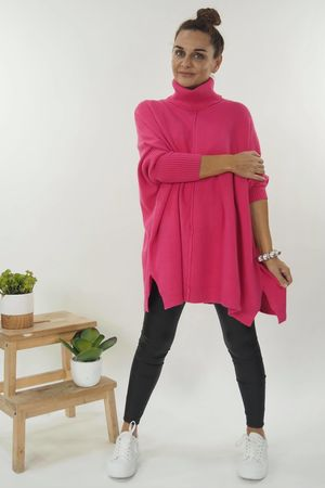 The Classic Blanket Knit Hot Pink