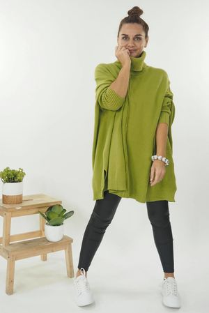 The Classic Blanket Knit Lime