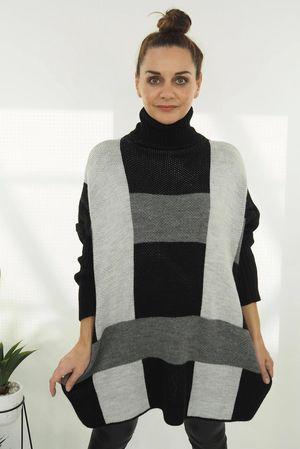 The Cubist Cowl Knit Black