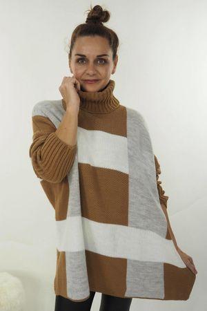 The Cubist Cowl Knit Tan