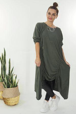 The Double Hitch Long Sleeve Dress Khaki