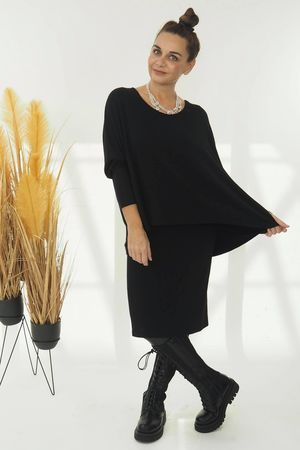 The Double Trouble Knit Black