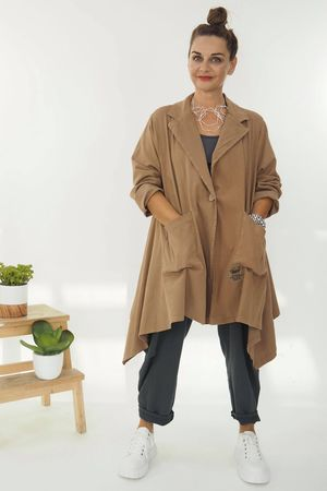 The Eve Quirky Blazer Soft Tan