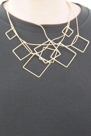 The Fallen Squares Necklace Gold