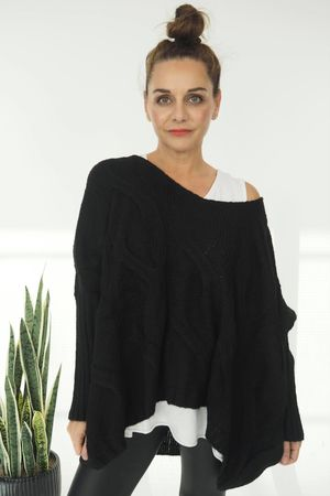 The Grunge Cable Knit Black