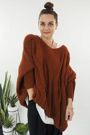 The Grunge Cable Knit Cinnamon