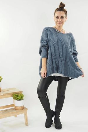 The Grunge Cable Knit Denim