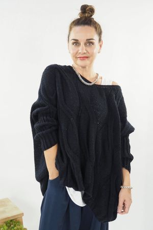 The Grunge Cable Knit Navy