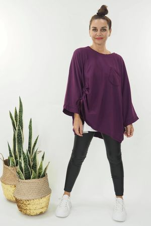 The Hitchcock Oversized Slouch Magenta