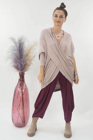 The Huggy Wrap Knit Blush
