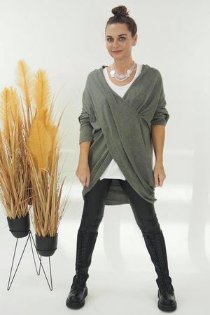 The Huggy Wrap Knit Khaki