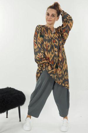 The Ikat Shirt Tunic Soft Tan