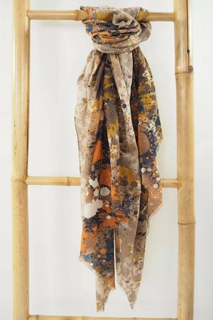 The Jackson Scarf Naturals and Navy