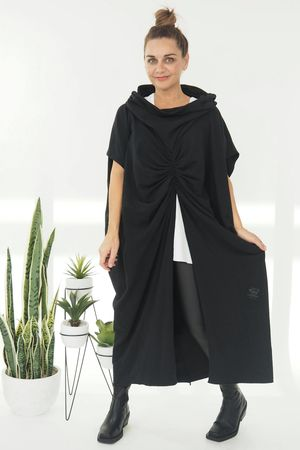 The Mercer Butterfly Cowl Tunic Black