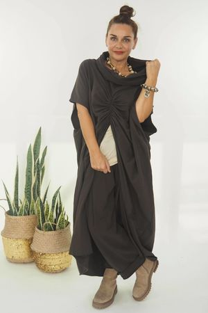 The Mercer Butterfly Cowl Tunic Espresso