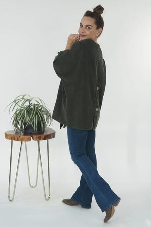The Mercer Button Box Jacket Khaki