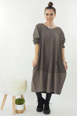 The Mercer Panel Cocoon Dress Earth