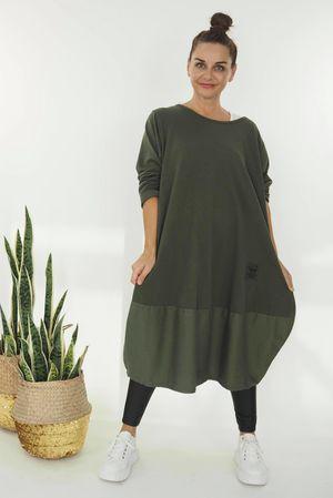 The Mercer Panel Cocoon Dress Khaki