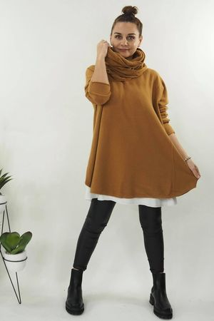 The Olsen Removable Snood Knit Tan