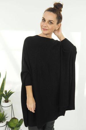 The Oversized Star Blanket Knit Black