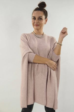 The Oversized Star Blanket Knit Blush