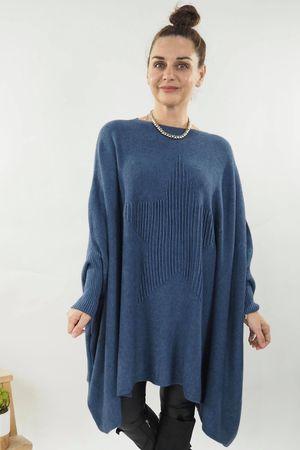 The Oversized Star Blanket Knit Denim