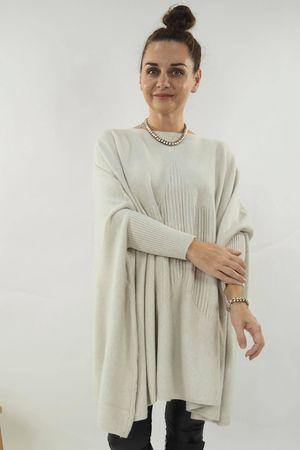 The Oversized Star Blanket Knit Ecru