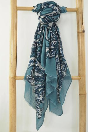 The Peacock Paisley Scarf