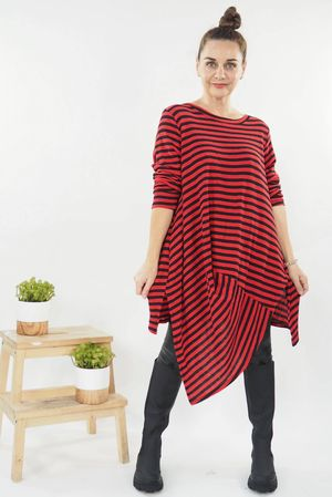 The Quirky Breton Top Red