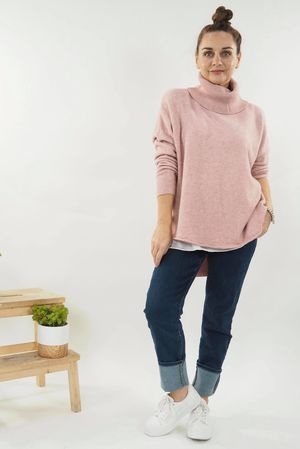 The Scoopy Cowl Knit Blush