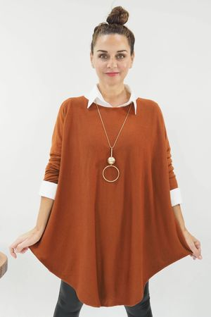 The Scoopy Knit Cinnamon
