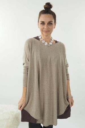 The Scoopy Knit Taupe