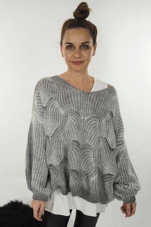 The Shell Knit V Grey