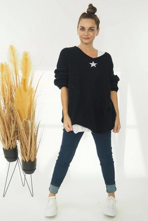 The Shining Star Knit Navy