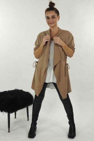 The Shortie Pull Tie Duster Tan
