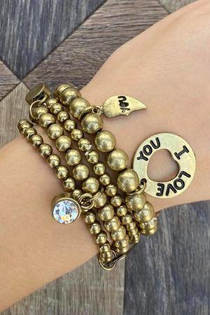 The Skinny Charm Bracelet Brass
