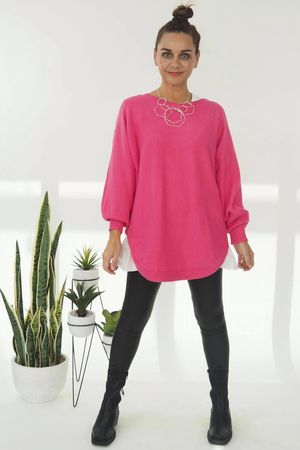 The Smile Knit Hot Pink