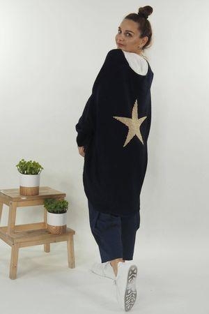 The Star Back Knit Navy