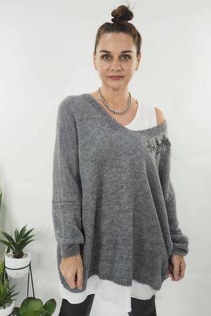 The Starstruck Knit Grey Marl